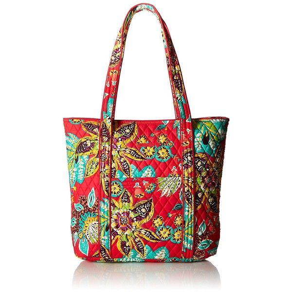 Vera Bradley Vera Tote Bag ($58) ❤ liked on Polyvore featuring bags, handbags, tote bags, white tote handbags, vera bradley tote, vera bradley handbags, pocket tote bag and handbags tote bags