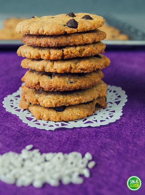 Galletas de arroz, coco y chocolate SIN GLUTEN. Gluten free cookies. La Cocina de Virginia.
