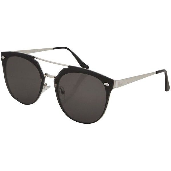 Topshop Monique Rimless Retro Sunglasses (42 CAD) ❤ liked on Polyvore featuring accessories, eyewear, sunglasses, rimless eyewear, rimless sunglasses, metal sunglasses, retro style glasses and retro glasses