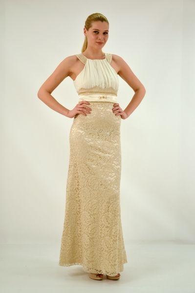 Φόρεμα μακρύ, ίσια γραμμή