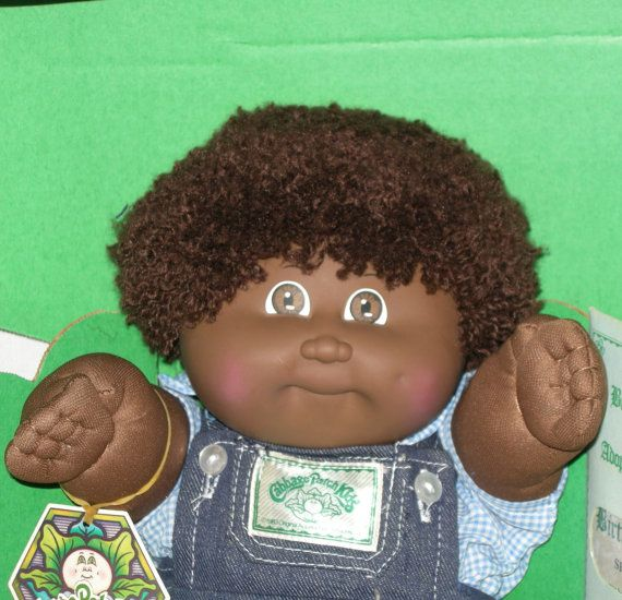 1983 Black Cabbage Patch Kids Boy Doll in Box by HermionesCloset