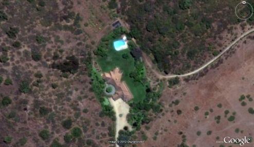 Imagen satelital de la parcela.