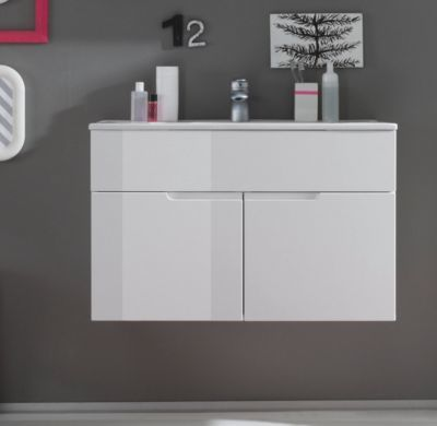 Die besten 25+ Waschbeckenunterschrank holz Ideen auf Pinterest - hochglanz kuchen badmobel mobalpa