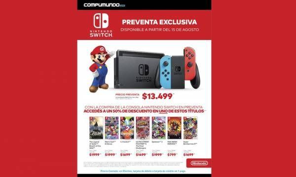 Compumundo: Lanzamiento de Nintendo Switch