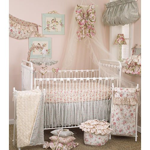 cotton tale tea party 3 piece crib bedding set tea parties babies r us and babies. Black Bedroom Furniture Sets. Home Design Ideas