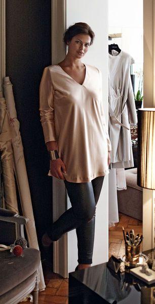 Блуза - выкройка № 147 A из журнала 12/2012 Burda – выкройки блузок на Burdastyle.ru