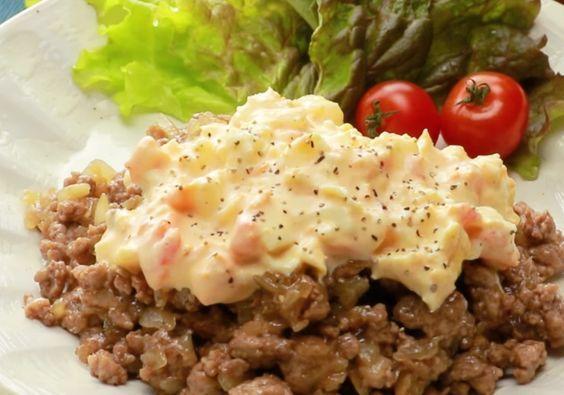 タルタルソースがレンジでできる♩「ひき肉南蛮」の作り方