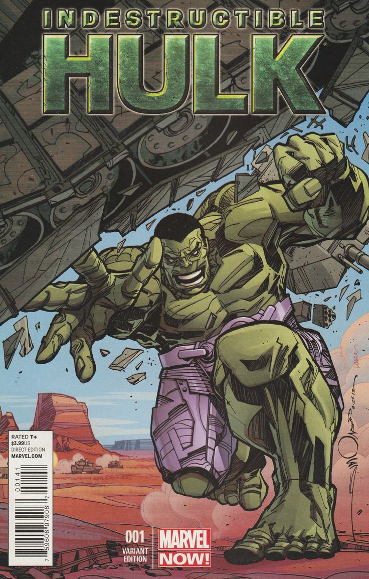 Indestructible Hulk # 1 Marvel Now! Variant Cover 1:50