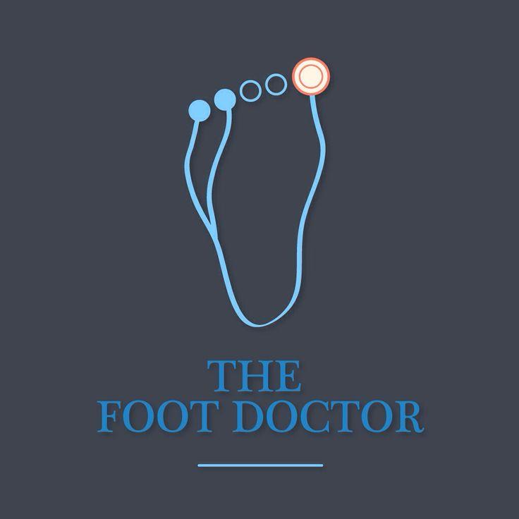 Foot Doctor. #footdoctor #foot #feet #doctor #podiatrist #stethoscope #vector #logodesign #design #graphicdesign