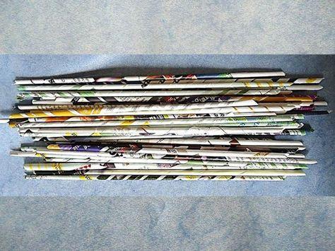 Cómo hacer tubos con hojas de revistas o periódico.: Tubos con hojas de revistas o periódico.