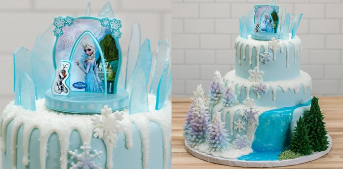 How-To Make a Three-Tier Frozen Birthday Cake - Cakes.com