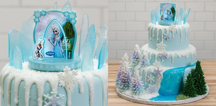 Frozen Tiered Cake Anna Elsa Olaf DecoSet