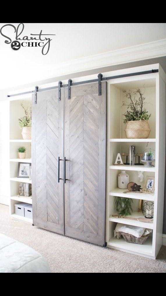 Top 13 Storage Room Door Ideas To Attempt To Make Your Bedroom Tidy And Also Roomy Closetdoor Diy Living Room Decor Barn Door Console Barn Door Media Console