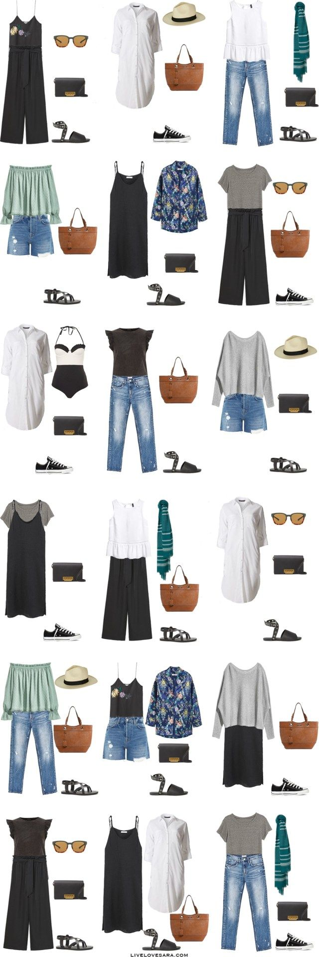 Packing List: 10 days in Madrid, Spain in Summer 2017 - What to Wear: Outfit Options. livelovesara