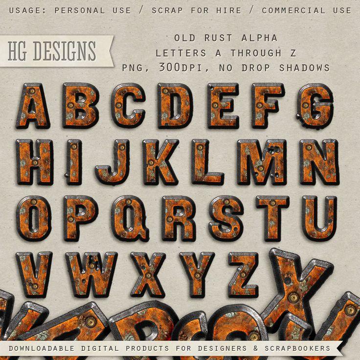 Scrapbooking TammyTags -- TT - Designer - HG Designs, TT - Item - Alphabet, TT - Texture - Metallic