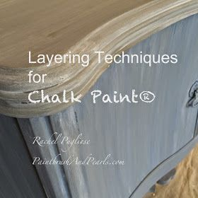 "Chalk painting techniques: color washes, dry brushing, etc. Great ""how to""!"