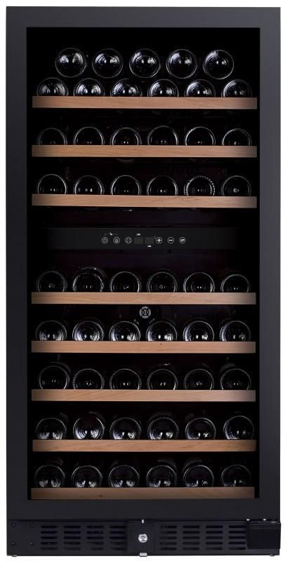 Dunavox - 94 bottle Integrated Dual Zone Wine Cooler DX-94.270DBK