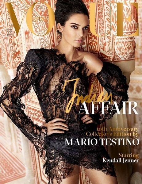 Американська топ-модель Кендалл Дженнер стала головною героїнею ювілейного номера Vogue India під редакцією Маріо Тестіно. Супермодель на обкладинці, яскрава фотосесія, знята на вулицях колоритного Раджастхана і в 400-літньому палаці, інтерв'ю з зірками Боллівуду