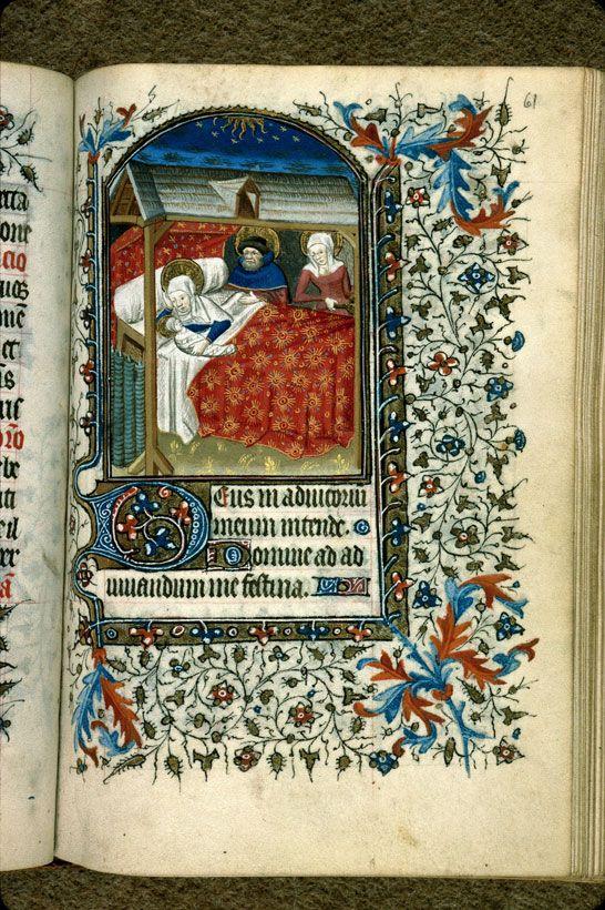 Carpentras, Bibl. mun., ms. 0049, f. 061 - vue 1 –  Nativité
