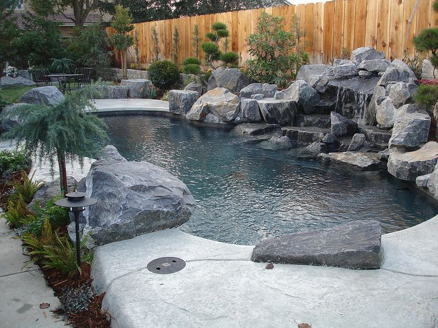 Koi pond gunite and black plaster koi pond gardening for Koi pool construction