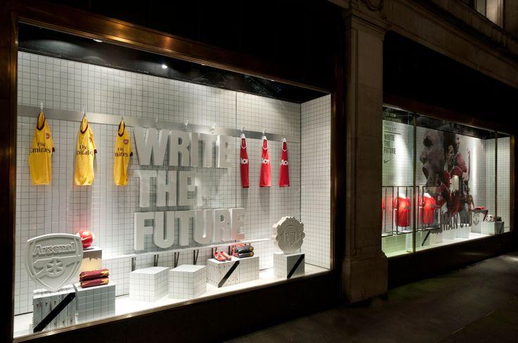 NIKE Retail Interior | Dressing Room, 2010 | Arsenal F.C. vs Manchester United F.C. | by Millington Associates