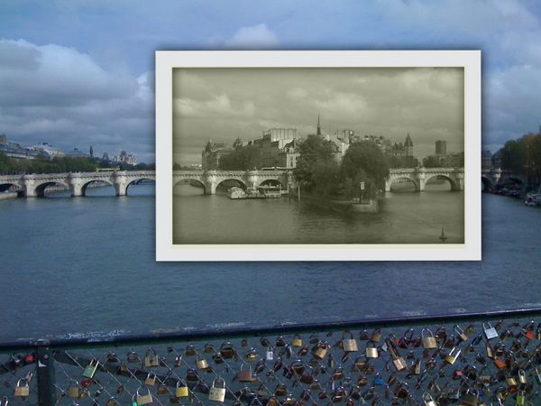 Then and now photos #paris France
