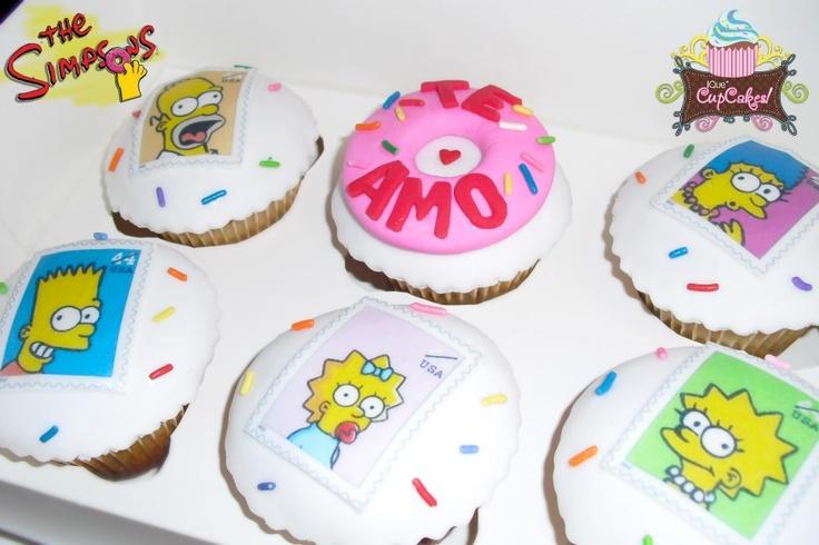 Los Simpsons Cupcakes