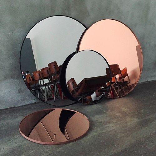 Circum spegel - Circum spegel - ø110, black