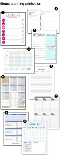 Free Fitness, Exercise, Workout Printables @Leslie Lippi Lippi Lippi Lippi Lippi Riemen Gardner I thought you might these with the challenge you are doing!