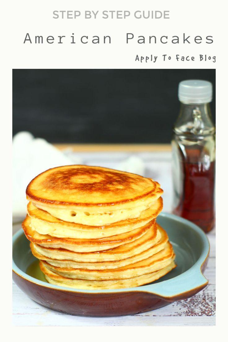 Easy Fluffy American Pancakes Recipe Easy American Pancakes American Pancakes American Pancake Recipe