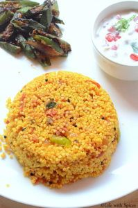 MILLET TOMATO BATH RECIPE | Life with spices