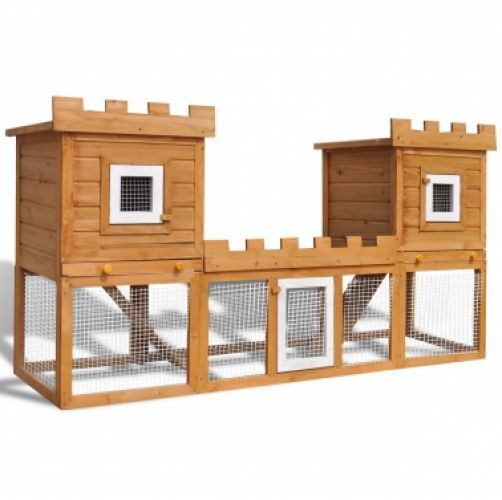 Outdoor Large Rabbit Hutch House Pet Cage Double House in Pet Supplies, Small Animal Supplies, Cages & Enclosures | eBay!