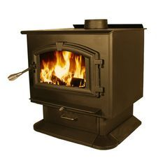 Features:  -Quiet 100 CFM blower included.  -Type: Wood stove with blower.  -Installation materials are not included (i.e floor protector, chimney connector, thimble, radiation shield, flue).  -Large