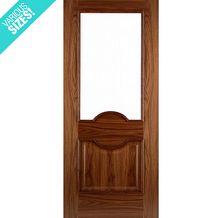 WoodDoor+ Internal Pre-Finished Walnut Glazed 1 Light Lleida Door