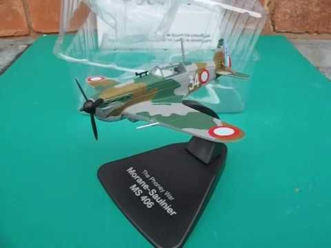 the phoney war ww2 morane saulnier ms 406 atlas editions model plane review - YouTube