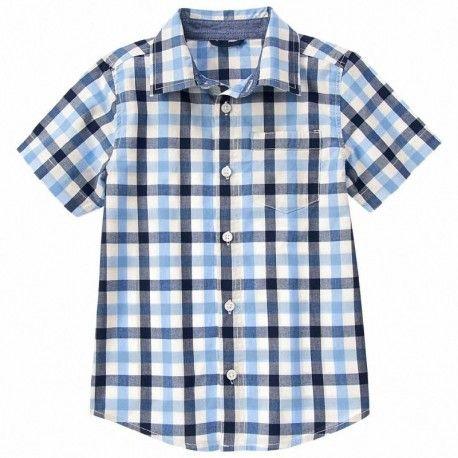 Camisa Gymboree River Blue a cuadros
