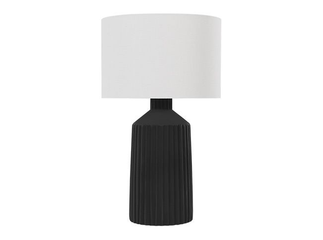 Black Rectangle Table Lamp with Black