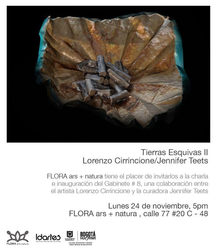 Flora Ars+Natura tiene el placer de invitarlos a la inauguración de 'Tierras esquivas II', una colaboración entre el artista Lorenzo Cirrincione y la curadora Jennifer Teets.  Lunes 24 de noviembre, 5:00 p.m.