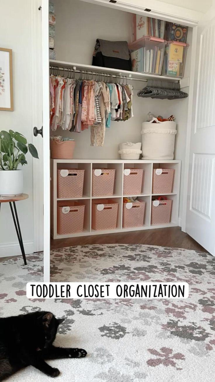 Toddler Closet Organization, Home Organization, Baby Room Decor, Bedroom Decor, Toddler Rooms, Big Girl Rooms, New Room, Girls Bedroom, Room Inspiration