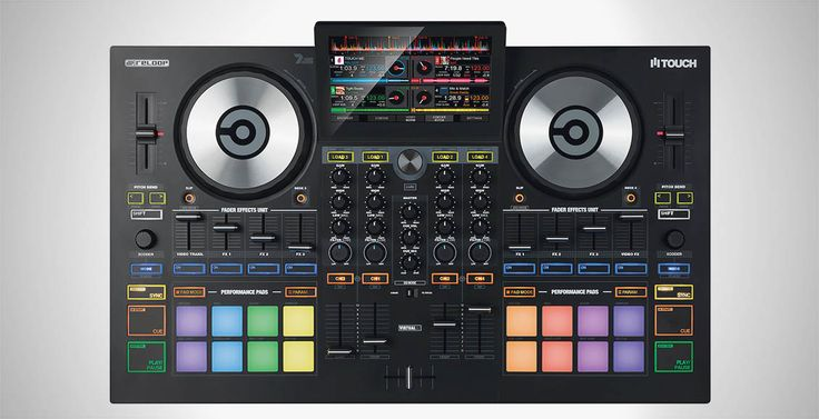 Reloop is gearing up to release a new controller that is aiming to closely integrate hardware and software. The Reloop Touch is a 4-deck controller that is native to Virtual DJ. The controller boasts a 7'' touchscreen, a 4 channel mixer, performance pads, and dynamic FX control. Read on to learn more about this unique controller.