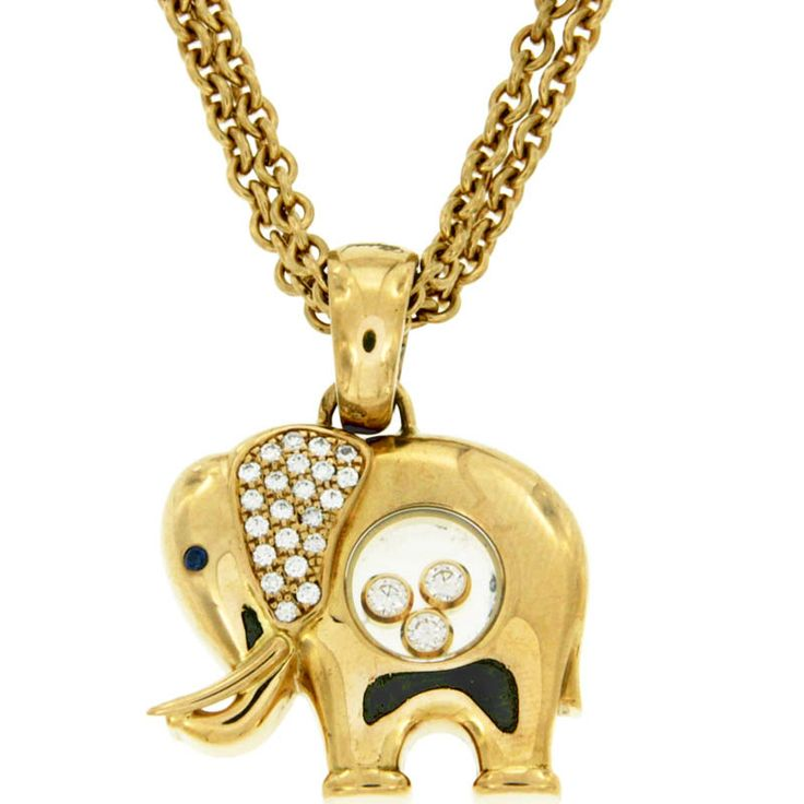 Collier Chopard Happy Diamonds Elephant | Jewels ...