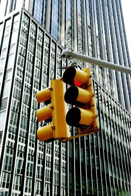 Traffic Lights - New York by Toni de Kort