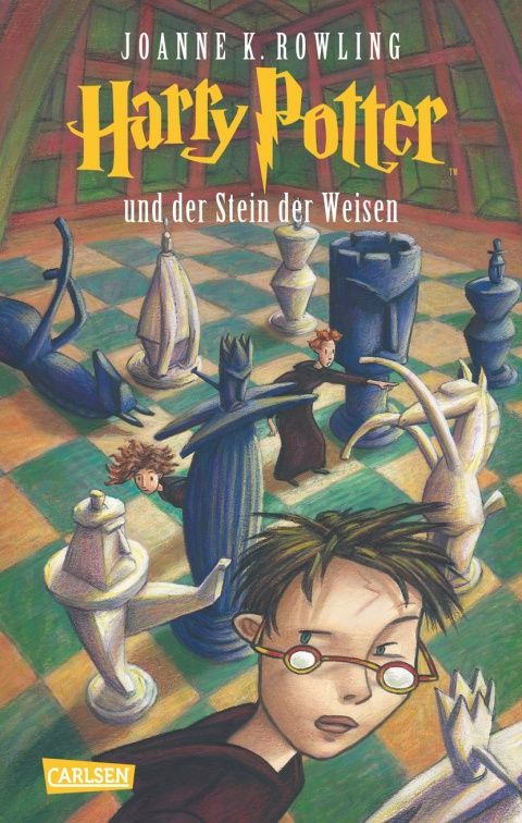 The German Harry Potters! I started working through these in high school, but I didn't get past the third one. And omg, the cover art! Hahaha, gets me every time!