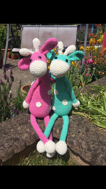 Geraldine and Gerry Crochetted Giraffes