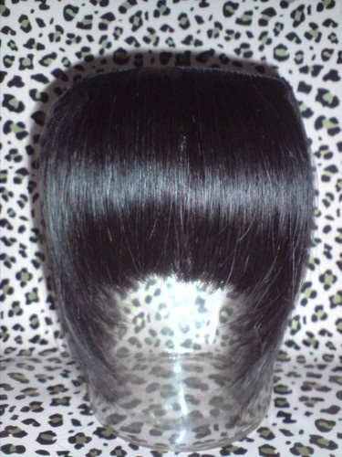 £12.00 paid Custom Made Clip in Fringe Extension 100% Human Hair | eBay