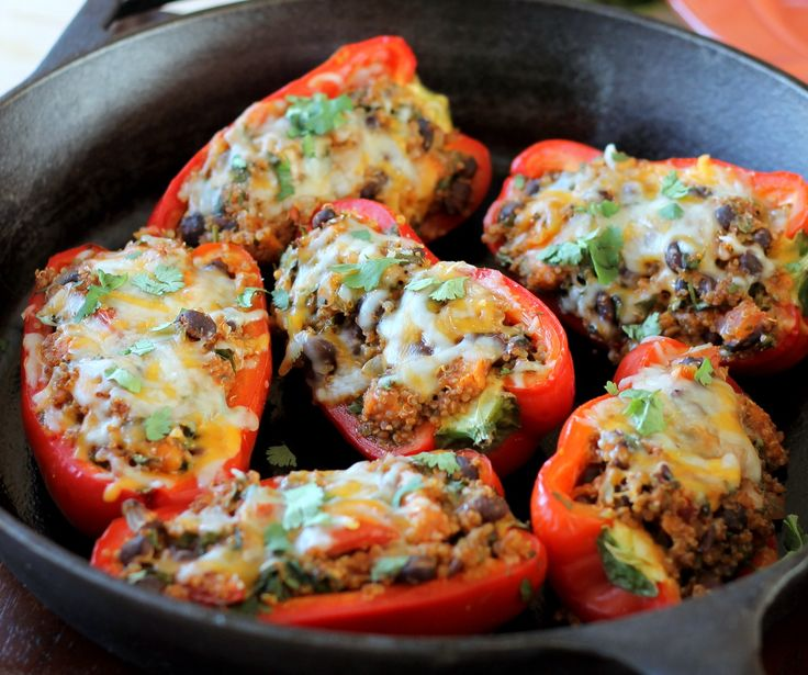 Stuffed, Belle Peppers, Healthy, Vegetarian Black, Stuffed Belle