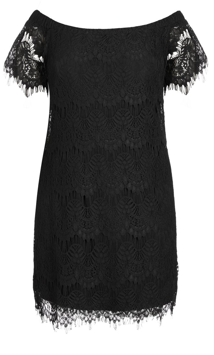 City Chic - LACE OFF SHOULDER DRESS - Women's Plus Size Fashion