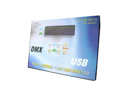 Caixa de Controle para Tubo LED RGB DMX USB Luz de Prata. 8 canais DMX, VU-METER, função blackout, 8 efeitos pré-programados, cabo e conexão USB, aplicativos Windows, automemória. Comprar em http://www.aririu.com.br/caixa-de-controle-para-tubo-led-rgb-dmx-512-usb-fonte-220v_43xJM