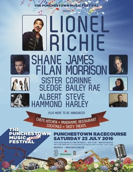 Win 2 tx to the Punchestown Festival : Lionel Richie, Shane Filan, James Morrison & more!