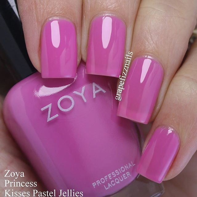 @zoyanailpolish Princess from the new Kisses Pastel Jellies collection. This is three coats . . . . . #nails #notd #nail...